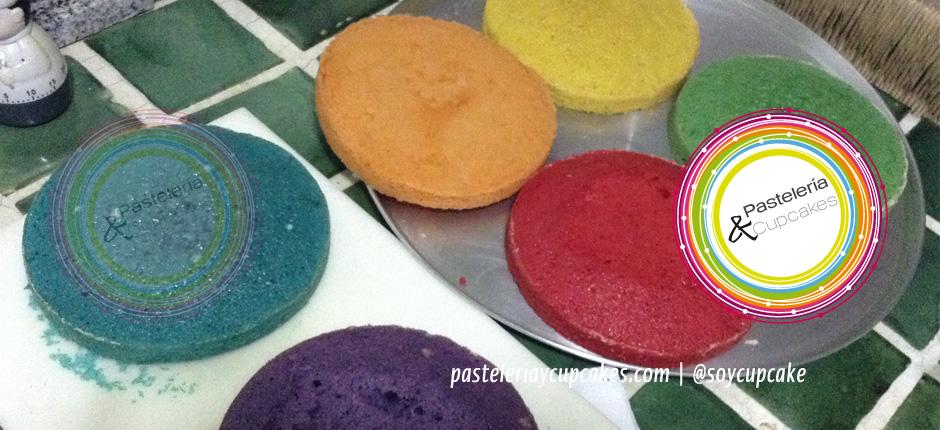 Pastel de 7 colores