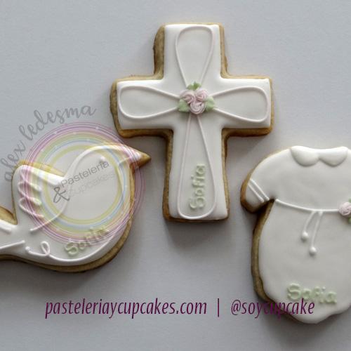 Galletas decoradas tematica bautizo